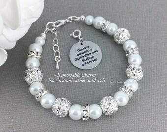 Godmother and Godson Bracelet Godmother Gift Godmother Bracelet Bracelet Pearl Bracelet Baptism Gift