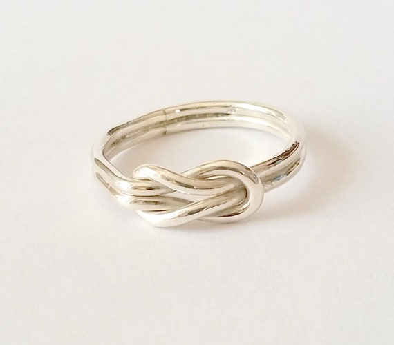 knot ring infinity ring eternity ring silver