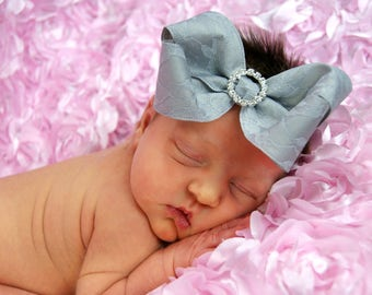 gray newborn bow baby bow toddler bow girls bow headband newborn headband baby headband toddler headband girls headband gray bow