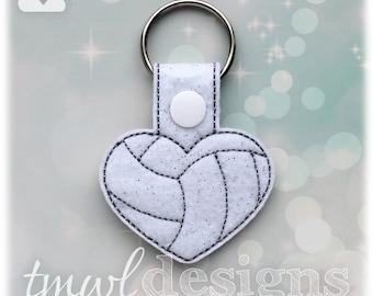 Volleyball Heart Key FOB Digital Design File