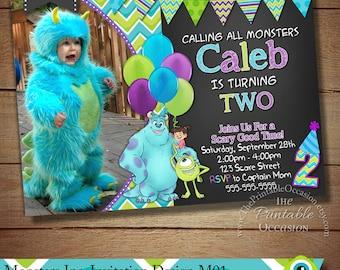 Monster Inc Invitation, Monster Inc Photo Invitation, Monster Birthday Party Invitation, Monster University Invitation