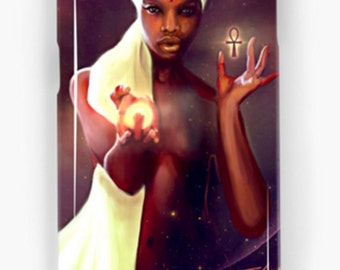 Samsung Galaxy Phone Case African American Goddess Black Girl Magic Maat Afrofuturism