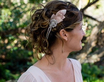 Wedding Headband, Bridal Head Chain, Bridal Halo, Bohemian Bridal Headpiece, Bridal Forehead Band, Bridal Headband, Bridal Headpiece, 1920s