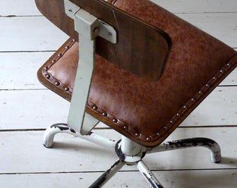 Vintage European Industrial Planners Chair / Desk Chair