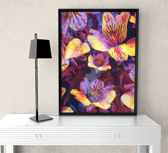 Mysterious Alstroemeria - Flower Art Print, floral & botanical photo, nature inspired, interior design, home decor, wildflower, garden