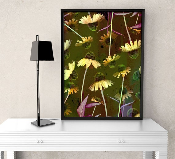 Candid Coneflower - Flower Art Print, floral & botanical photo, nature inspired, interior design, home decor, wildflower, garden