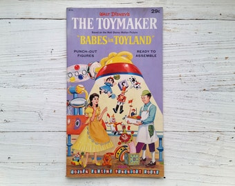 The Toymaker Punch-Out Figures . Babes in Toyland . 1961 . Golden Funtime . Uncut Press Outs . Vintage Disney Paper Dolls . Unused Punch Out