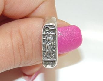 SR1580 Unique Truly Interesting Vintage Estate Sterling Silver Birds Wood Pecker Ring US Size 7.25 UK O 1/2 925  Jewelry Jewellery For Her