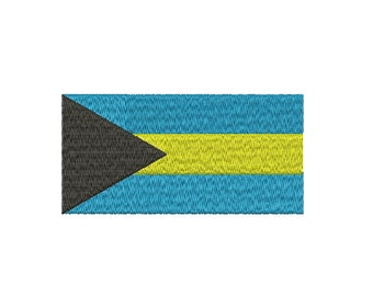 Machine Embroidery Design Instant Download - Bahamas Flag