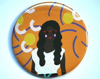 Party Girl Pocket Mirror, Party Bag Filler, Hand Mirror, Girlfriend Gift