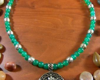 Green Onyx Green Man Necklace - Green Man Necklace, Green Man, Pagan Jewelry, Pagan Necklace, Green Man Jewelry, Forest, Mythology,