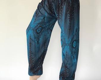 SM0008 Thai Genie Pants Comfy Trouser, Gypsy Pants Rayon Pants,Aladdin Pants Maxi Pants Boho Pants