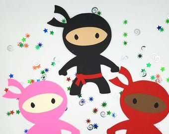 Ninja Invitations, Invitations, Boys Birthday Invitations, Karate Invitations, Ninja Birthday, Ninja Warrior, Ninja Diecut, Ninja Baby