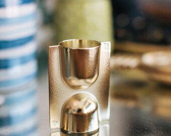 Double Brass Bar Jigger