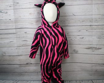 Hot Pink Zebra Costume Size 18M