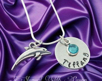 Dolphin Necklace • Little girl Necklace • Dolphin Jewelry • Beach Jewelry • Personalized Necklace • Custom Jewelry • Beach Necklace •Dolphin