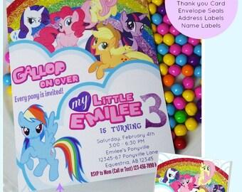 My Little Pony Printable Invitation | Pony Party | My Little  Pony Birthday | Birthday Decoration Printable Invitation Epic Parties by REVO