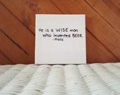 Craft Beer Quote Coaster: Plato Quote