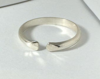 Sterling Silver Open Ring, Size 3 4 5 6 7 8 9 10 11 12 13 14, Gap Ring, Designer Ring, Sterling Silver Open Band Ring
