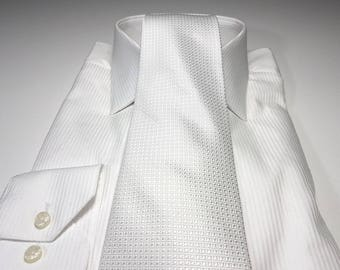 White Tonal Solid Tie