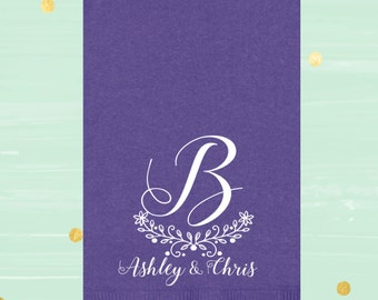 Personalized Napkins, Wedding Guest Towels, Housewarming Gift, Personalized Gift, Wedding Gift, Holiday Gift, Paper Napkin
