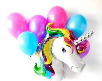 Unicorn Balloons, Unicorn Birthday, Unicorn Party, Rainbow Unicorn, Rainbow Party, Birthday Decoration, Party Decor, Balloon Centerpiece