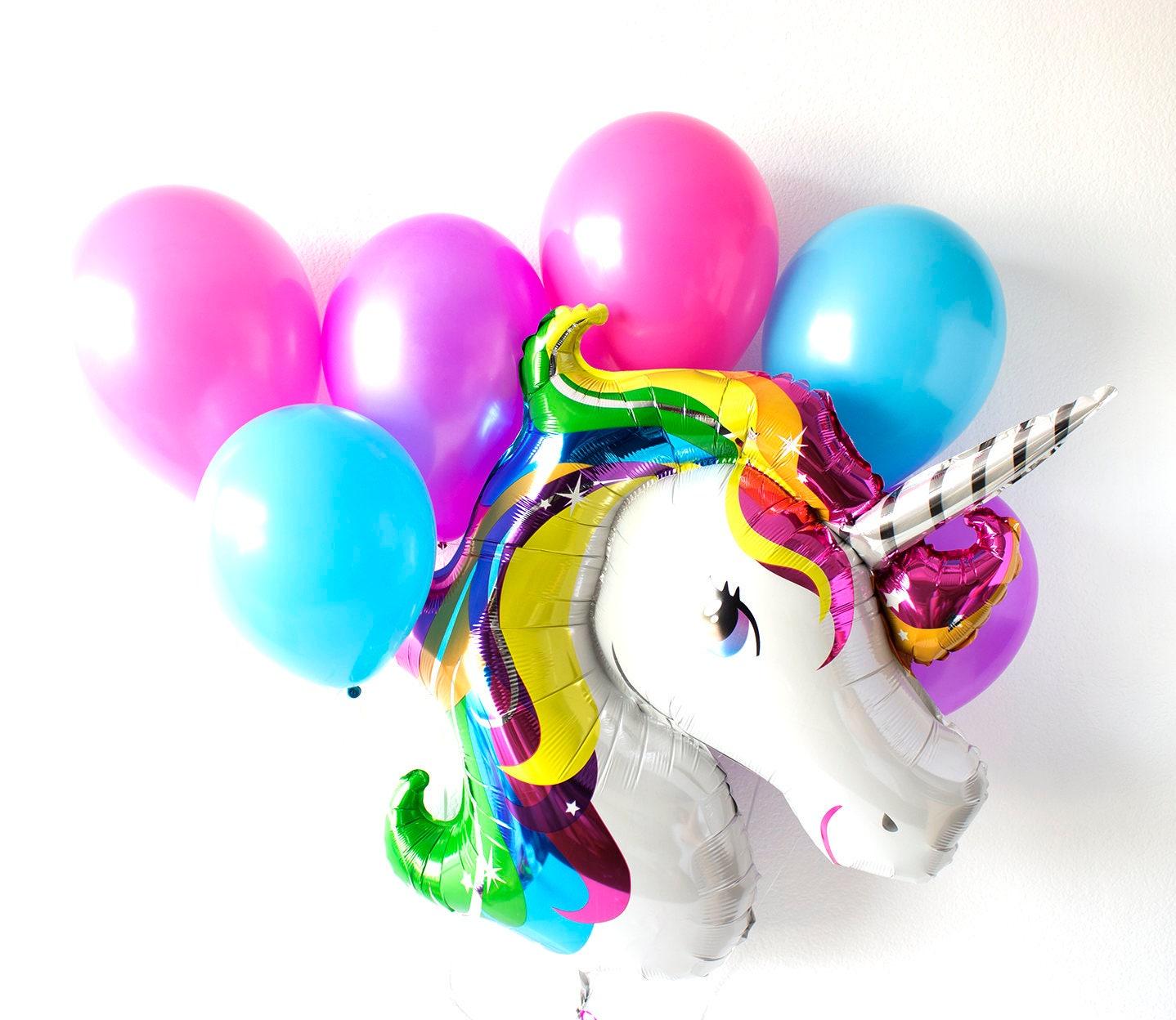 Unicorn Balloons Unicorn Birthday Unicorn Party Rainbow