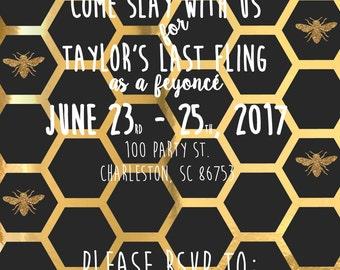 Beyonce Themed Bachelorette Invitation_Version 1_Custom