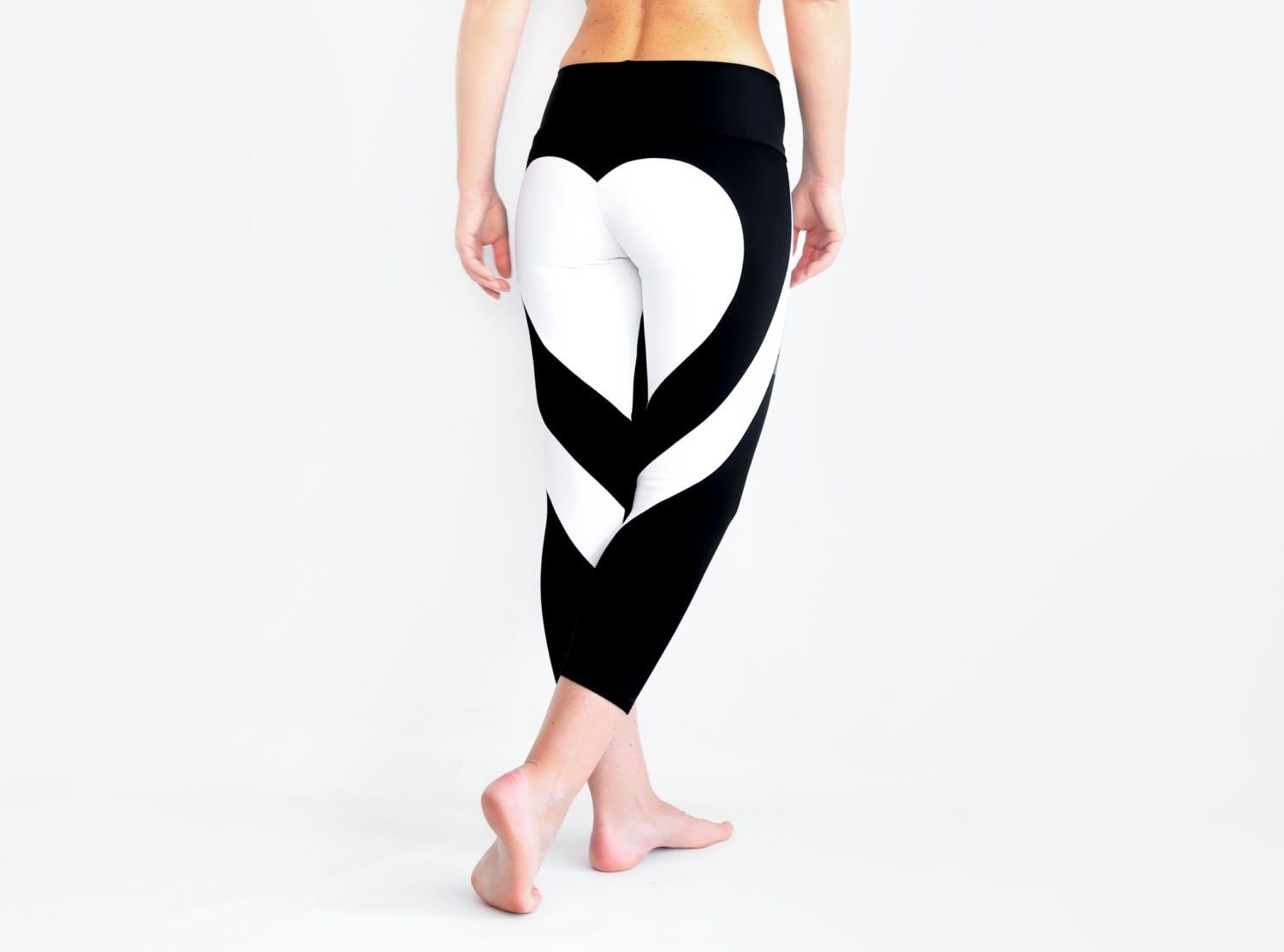 heart yoga pants heart leggings black yoga pants hot