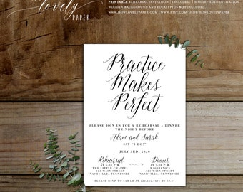 Printable Rehearsal Dinner Invitation - the Layla Collection