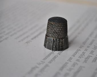 Antique Sterling Thimble - Size 7