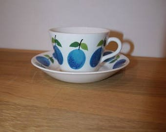 Stig Lindberg - PRUNUS - Coffee cup and saucer - Gustavsberg - Retro - 60s - Sweden - Design
