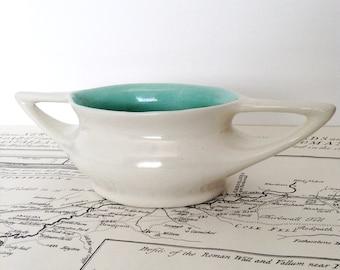 Oswold Stephens Pottery, Two Tone, Twin Handled Vase, O C Stephens Studio Potter, Dunedin New Zealand, NZ Pottery