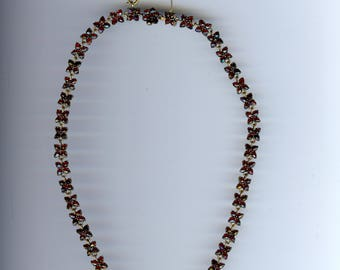 ANTIQUE VICTORIAN gold fill GARNET necklace*