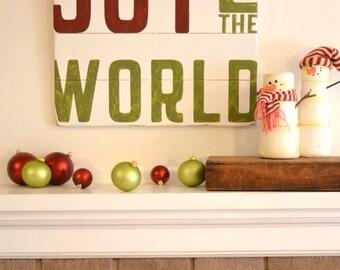 Joy To The World Sign, Christmas Sign, Modern Christmas Sign, Christmas Decor