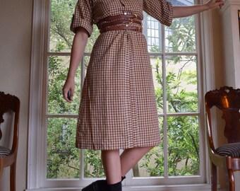 70's Western Gingham Dress