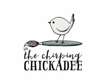 À La Carte Custom Logo - Custom Logo Design Custom Illustration Hand Drawn Business Illustrated Small Fat Grey Blue Bird Paintbrush Logo