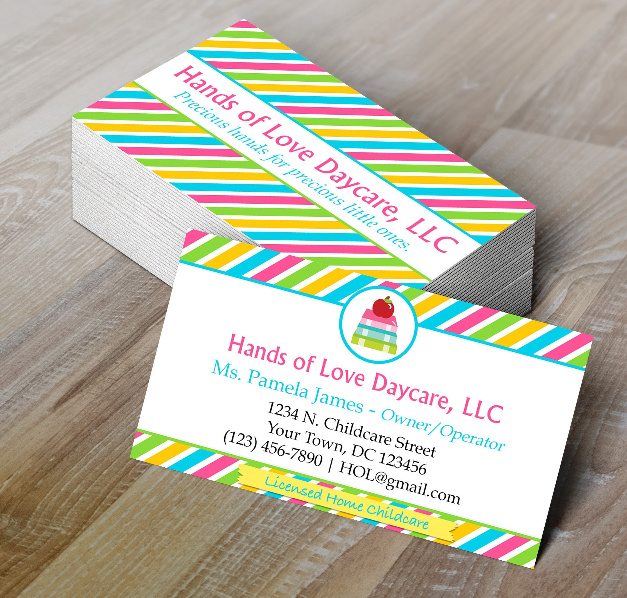 Childcare business card daycare business card editable zoom magicingreecefo Image collections