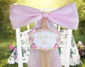 Floral Bridal Shower Decoration,Pink Gold Bride to Be, Chair Sign, Bridal Shower Bow, Bachelorette Party Decor,  Mailbox Door Decoration