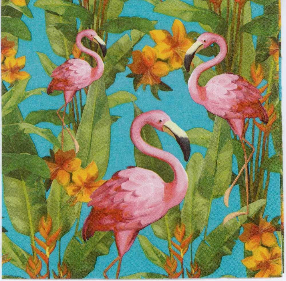 Decoupage Napkins Pink Flamingos Flamingo Napkins