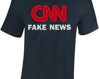 CNN Fake News shirt t-shirt tshirt trump network 2017 station liberal politics GOP kanye west liberal democrat tv clothing mainstream media