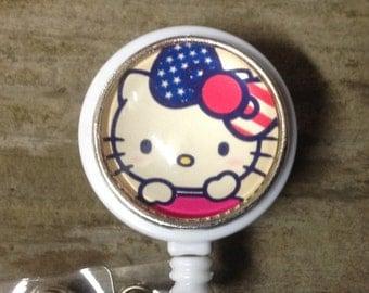 Hello kitty badge reel,RN badge holder,Kawaii gift
