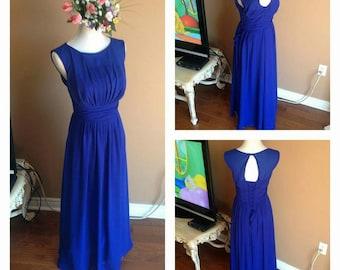 Royal Blue bridesmaid dress, long chiffon bridesmaid dresses, maxi chiffon dress, elegant long dresses