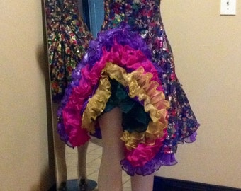 Show Girl Tabis Character Ball Can Can  Dress Costume Made In The U.S.A.