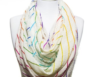Stripped Printed So Soft Lightweight Spring Summer Woman Fashion Accessory Scarves Women Gift Ideas For Her Mom Bestfriend