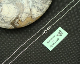 "ADD-ON Medium Trace Sterling Silver Chain 16"" 18"" 20"",  Do Not purchase without my pendant, Add-On chain to my pendants only"