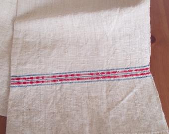 212. Flax linen hemp towel, vintage organic linen, homespun pure flax linen towel, flax linen hemp towel, handwoven guest towel  (unused)