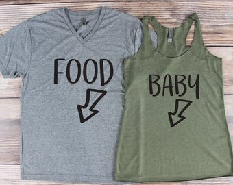 Pregnancy Announcement Shirt/ His and Hers Pregnancy Announcement/ Couple Pregnancy Announcement/ Pregnancy Announcement Ideas/ Daddy to be