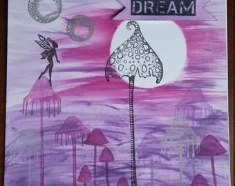 Dream fairy blank greeting card