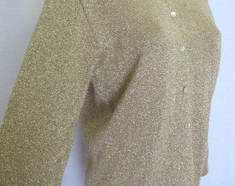 Metallic Cardigan Sweater Lurex Cardigan Pin Up Cardigan